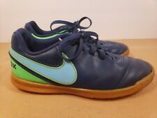 Nike Kids TiempoX Indoor Soccer Shoes Size 1 Youth