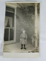 Vintage Real Photo Post Card Dressed Up Little Girl Divided Back 1910s? AZO