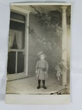 Vintage Real Photo Post Card Dressed Up Little Girl Undivided Back 1910s? AZO