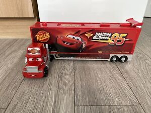 Disney Cars Talking Mack Lightening McQueen Transporter Truck / Carry Case Rare!