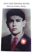 Saint Jose Luis Sanchez del Rio relic card Mexican Cristero martyr