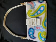 FENDI Beaded Embroidery  Mamma Baguette Hand Bag