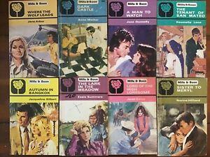 8 Vintage Mills and Boon Romance Novels Bulk Lot