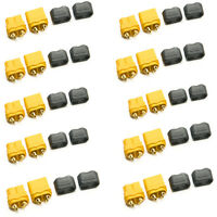 10Pairs XT60 Male + Female Bullet Connectors Plugs With Sheath Housing for RC