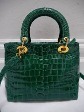 GIORGIO'S OF PALM BEACH $5,000+ emerald green genuine alligator handbag