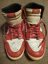 1994 NIKE Air Jordan 1 White and Red Retro Men's Size 12 MJ Bulls Last Dance