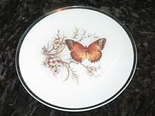 Striking Glass Display Plate BUTTERFLY Opaque White Background