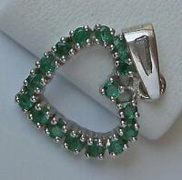 Anhänger Herz mit Smaragden Emerald in aus 14 Kt. 585 Gold Damen