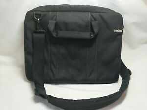 """13"""" Incase Black Padded Laptop Tablet Computer Bag Crossbody Shoulder Strap"""