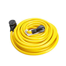 50Ft 30Amp Rv Extension Cord With Finger Grip for Trailer Motorhome Camper