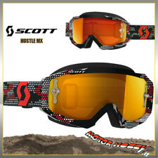OCCHIALE MASCHERA CROSS ENDURO SCOTT MX HUSTLE BLACK RED LENTE SPECCHIO + CHIARA