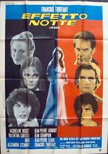 LA NUIT AMERICAINE Italian 2F movie poster 39x55 FRANCOIS TRUFFAUT BISSET LEAUD