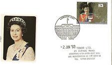 2 GIUGNO 1993 40th anniversario della incoronazione Copertura Palazzo London SW1 SHS (A)