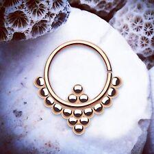 MAYA Rose Gold Septum Ring Bendable Daith Piercing Ball Cartilage Piercings UK