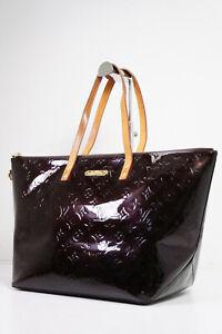 Auth Pre-owned Louis Vuitton Vernis Amarante Bellevue Gm Tote Bag M93589 210150