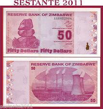 ZIMBABWE -  50 DOLLARS  2009 - PREFIX AA -  P. 96 - FDS / UNC