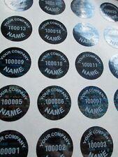 100 .65 Black Round Custom Hologram Tamper Evident High Security Warranty Labels