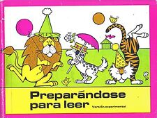Preparandose Para Leer / Pre-Reading Workbook for Spanish speaking children