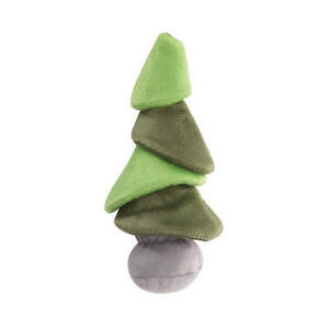 """Grriggles Treefaloo Dog Toy Soft Plush Squeaker Whimsical Tree-Shaped Festive 9"""""""