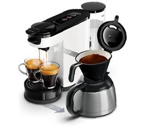 PHILIPS Senseo Switch HD6592/01 Machine à Café 2-en-1 Dosettes et Filtre Blanc