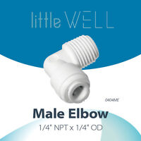 """LittleWell Elbow Connection 1/4""""NPT to 1/4"""" Quick Connect Fitting, 2 Pack"""