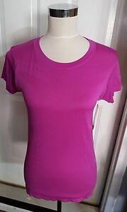 New Womens Purple Champion Premium Semi Fitted Workout Top Shirt Size XS