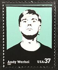 2002 Scott #3652 - 37¢ - ANDY WARHOL - ARTIST - Single Stamp - Mint NH