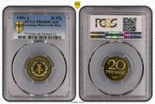 GDR 20 Pfennig 1983 a Superb High Grade Proof only 2550 Ex. PCGS PR68DCAM
