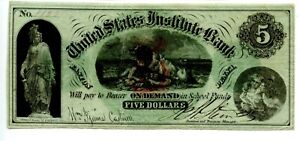 $5  Easton. Penn.  United States Institute  College Bank