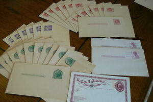 Lot of 35 Vintage Unused USPS Postcards 1 2 3 4 6 Cent Stamped Prepaid