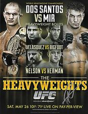 Frank Mir & Roy Nelson Signed UFC 146 8.5x11 2012 Fight Poster Photo Autograph