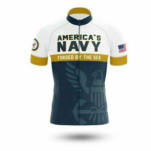 U.S.Navy V2 Cycling Jersey Short sleeve Pro Clothing Bike Bicycle Maillot