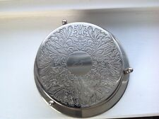Set of Six Silver Coasters - etched with 25 (silver anniversary) - Stores nicely