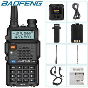 Baofeng UV-5R VHF/UHF Dual-Band USB Two Way Ham Radio Walkie-Talkie Earphone US