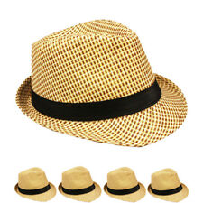 MEN HAT Fedora Hat Wedding Dress Formal CREAM CAP CAMEL SUMMER US SELLER WOMEN