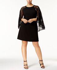 Calvin Klein Plus Size Lace Capelet Dress MSRP $169 Size 16W # DN 2117 NEW