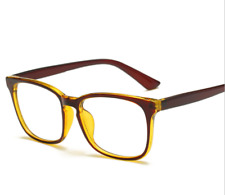 Men Women Brown Frame Full Rim Glasses Spectacles Retro Vintage Eyeglass