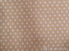 98x165 cm Stoff Baumwolle Ökotex ♥ Pünktchen Polka dots Punkte beige