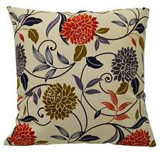 LF339a Orange Brown Blue Olive Lilac Cream Cotton Canva Cushion Cover/PillowCase