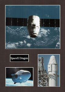 SPACEX Dragon 1 16 x 12 Photo Montage Display C, ISS Space EXPLORATION Falcon 9