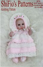 "KNITTING PATTERN for DOLLS DRESS & HAT 10""-12"" & 14""-16"" #94 NOT CLOTHES"