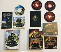 PC CD-ROM Game Lot Halo Combat Evolved Doom 3 Authentic Tested Complete Manuals