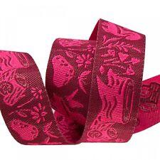 5/8 Inch Moon Shine Meadow Tula Pink Ribbon ~ Renaissance Ribbons Woven Jacquard
