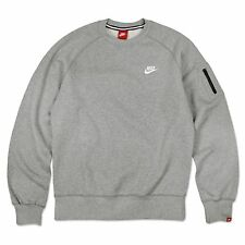 Nike Aw77 Fleece Crew-neck Pulóver retro cuello redondo sudadera Grey XL