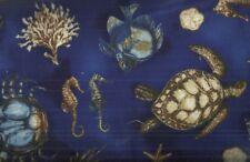 Hidden Cove nautical sealife turtle seahorse Kaufman fabric