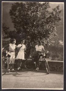 YZ0293 Valsolda (CO) - Oria - Gita in bicicletta - Fotografia d'epoca