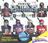 2017 Panini Contenders Football Factory Sealed ULTRA 14 Pack Box-3 AUTOGRAPH/MEM