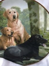 Franklin Mint Heirloom Collector Plate Canine Companions by Nigel Hemming LE 8""