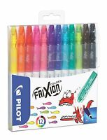 Pilot Frixion Colors Erasable Felt Tip Pens Fibre Tip - Assorted Wallet of 12