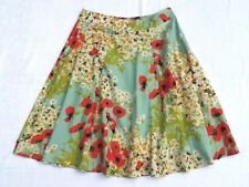 Phase Eight Floral Skirt Size 12 Hand Beaded 100% Cotton Floaty Summer Holiday